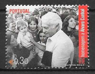 filatelia personalidad Portugal 2005