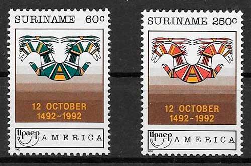 colección sellos UPAEP Suriname 1992