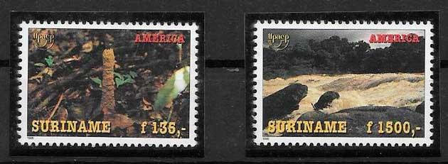 sellos UPAEP Suriname 1995