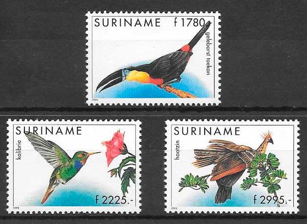 sellos fauna Suriname 1995