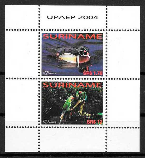 filatelia UPAEP Suriname 2004