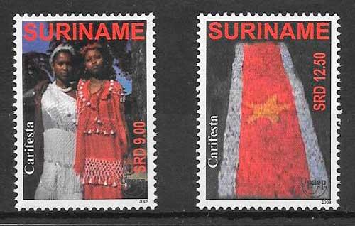colección sellos UPAEP Suriname 2008
