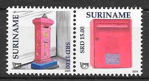 colección sellos UPOEP Suriname 2011