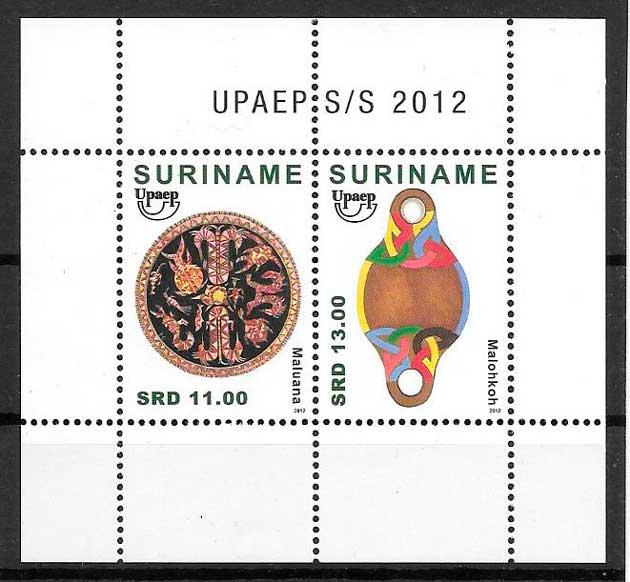 filatelia colección UPAEP Suriname 2012