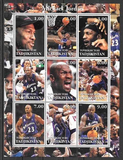 sellos colección NBA Tadjikistan