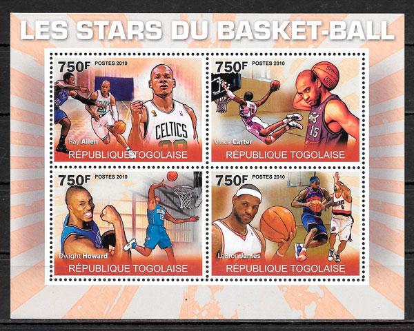 sellos NBA Togo 2010