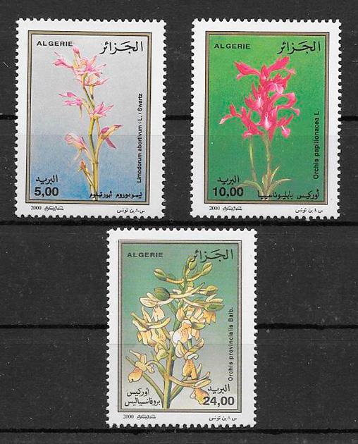 colección sellos orquídeas Argelia 2000