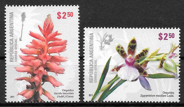 sellos orquídeas Argentina 2011
