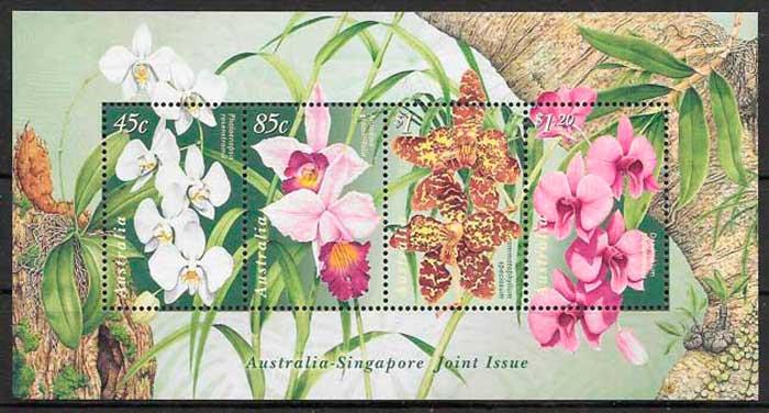 sellos orquídeas Australia 1998