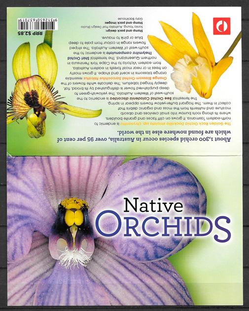 filatelia orquídeas Australia 2014