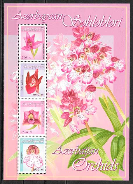 sellos orquídeas Azervaiyán 2005
