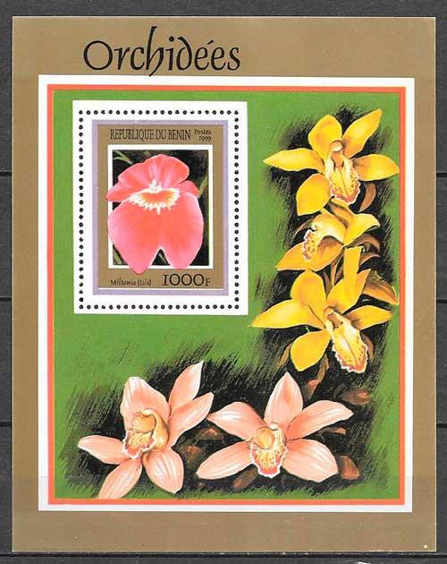 sellos orquídeas Benin 1999