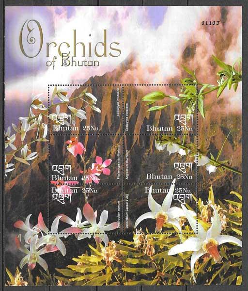 filatelia colección orquídeas 2002