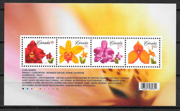 sellos orquídeas Canadá 2007