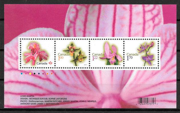 sellos orquídeas Canadá 2010
