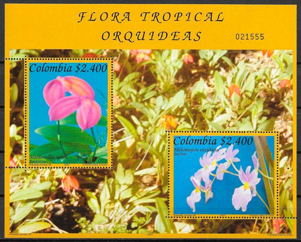 filatelia orquídeas Colombia 2003