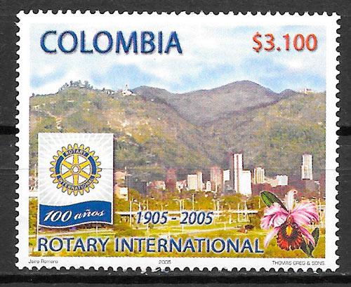 filatelia colección orquídeas Colombia 2005