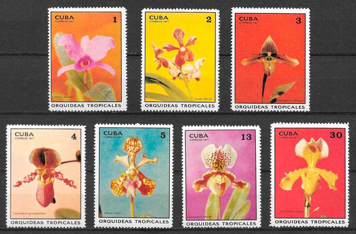 sellos orquídeas 1971