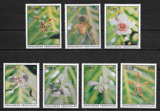 filatelia orquídeas Cuba 1973