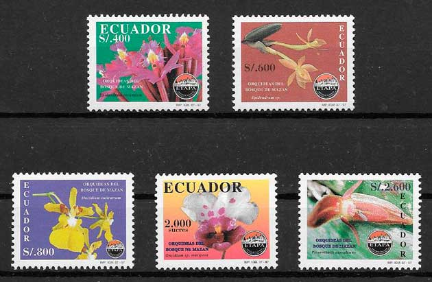 sellos orquídeas Ecuador 1997