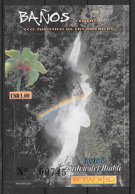 filatelia colección orquídea Ecuador 2001