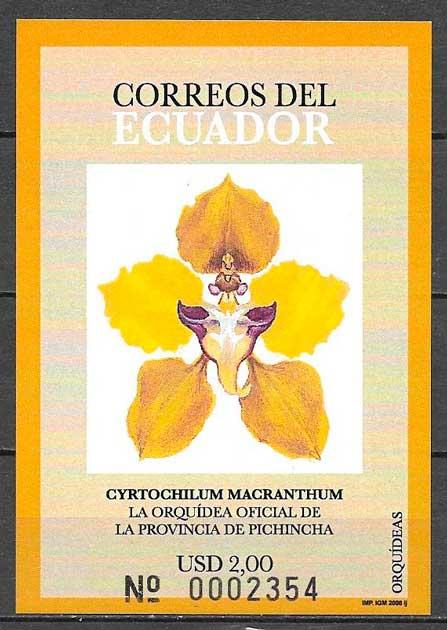 filatelia colección orquídeas 2006
