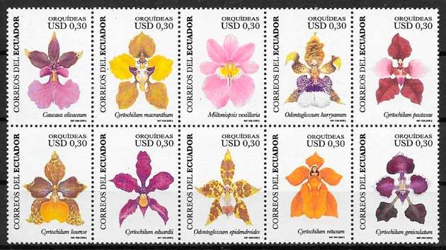 colección sellos orquídeas 2006