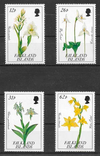 filatelia orquídeas Falkland Islands 1991