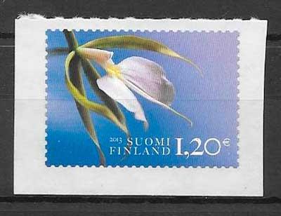 sellos orquídeas Finlandia 2013