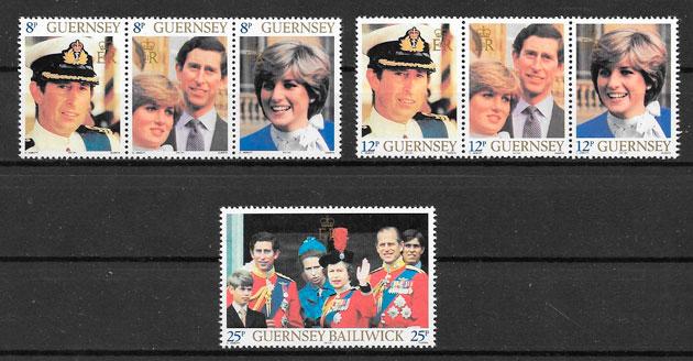 sellos personalidad Guernsey 1981