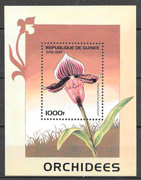 sellos orquídeas Guinea 1997