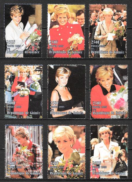 sellos Diana Guinea 1998