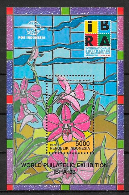sellos orquídeas Indonesia 1999