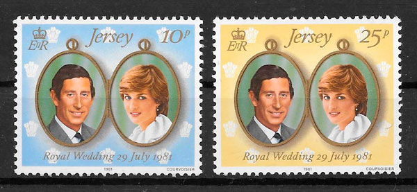 sellos Diana Jersey 1981
