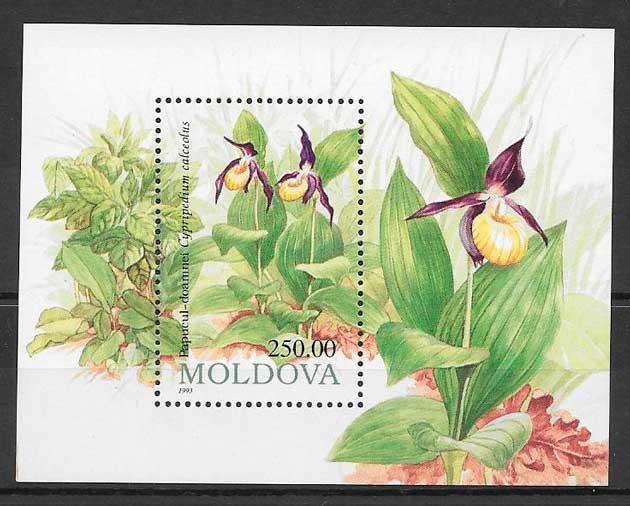 filatelia orquídeas Moldavia 1993