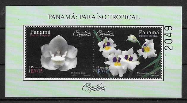 filatelia orquídeas Panamá 2000
