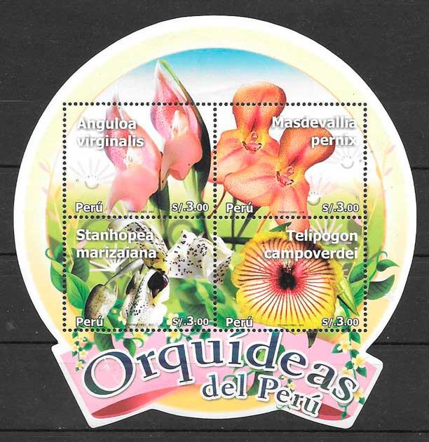 sellos orquídeas Perú 2010