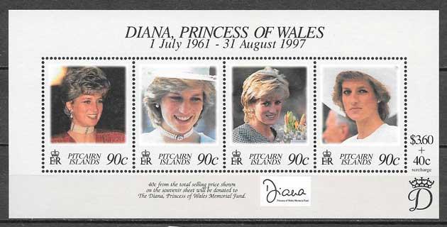 colección sellos Diana de Gales Pican Island 1998