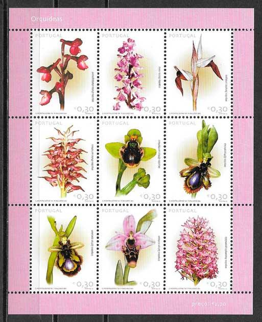 filatelia orquídeas Portugal 2003