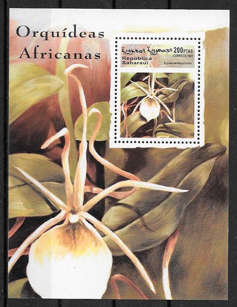 filatelia colección orquídeas Sararaui 1999
