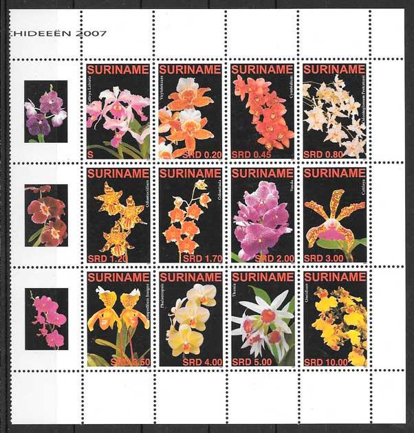 filatelia orquídeas Suriname 2007