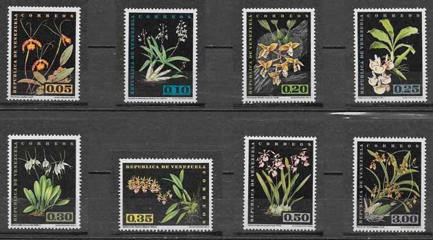 sellos orquídeas Venezuela 1962