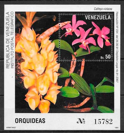 sellos orquídeas Venezuela 1991