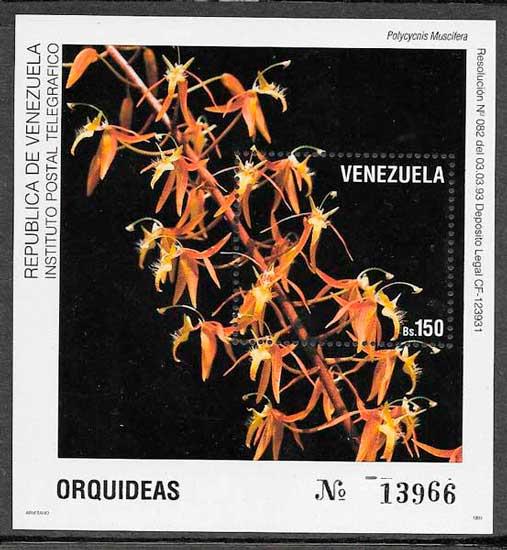 filatelia orquídeas Venezuela 1993