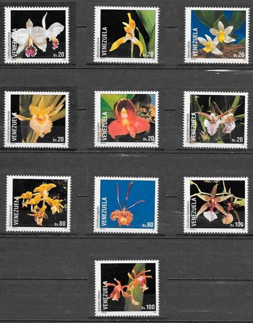 sellos orquídeas Venezuela 1993