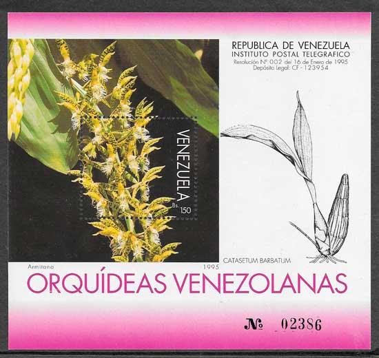 sellos orquídeas Venezuela 1995