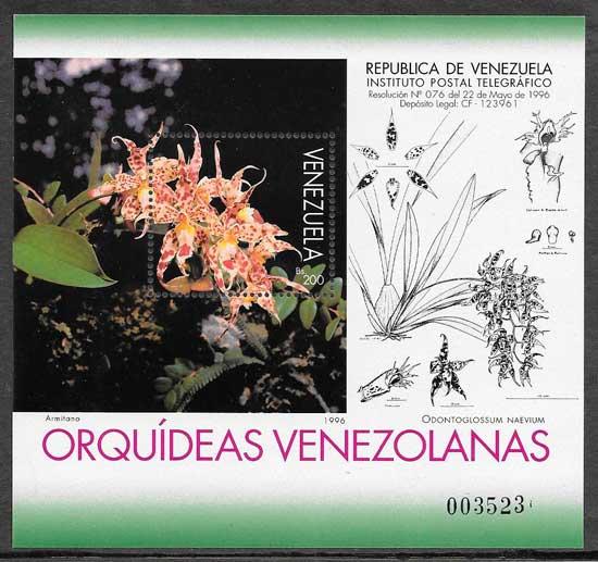 sellos orquídeas Venezuela 1996