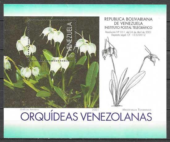 filatelia orquídeas Venezuela 2001