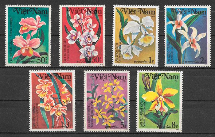 sellos orquídeas Viet Nam 1984