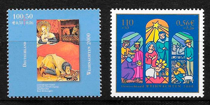 filatelia colección emisión conjunta Alemania 2000
